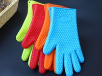 Wholesale Oven Mittens - Cleaning Gloves Thickening Cooking BBQ Silica Gel Glove Microwave Oven Heat Protection Barbecue Silicone Mittens Pet Bathe Gloves 77