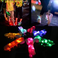 Wholesale Wholesale For Dancing Shoes - New arrived Fashion LED Shoelace 9 Colors Outdoor Sports Dance Led Shoes Beautiful Shoelace For Sale 120cm Length Free Shipping