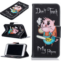 Wholesale Cool Iphone Flip Cases - For IPhone 7 Plus Case Cool Pattern PU Leather Wallet Flip Case for Stand Fashion Cover Case Cards Slots