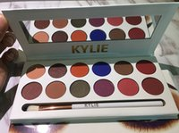 Wholesale Pen Shadow Eyes - 12 Colors Kyshadow High Quality Kylie Jenners Eyeshadow palette with Pen and Stamp Cosmetics Eye shadow Kylie 12color Royal Peach Palette