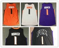 Wholesale Sun Logos - Wholesale #1 Devin Booker Jersey Phoenix Basketball Jerseys 100% Stitched logo ,Top Quality Men BOOKER jersey sun Free Shipping Mix Orders