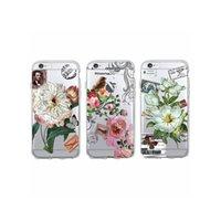 Wholesale Vintage Postage Stamps - Retro Vintage Floral Flower Bird Postage Stamp Postmarks Soft Phone Case Coque Fundas For iPhone 7 7Plus 6 6S 6Plus 5 5S