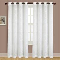 moda icy area la pequea flor sheer cortinas para la sala de balcn cocina cortinas voile