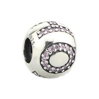 Beads Hunter Jewelry Authentic Sterling Silver 925 Circondato da speranza rosa cz