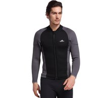 626b0244d0 Mens Wetsuit Jacket 3mm Snorkeling Outdoor Surfing Thermal Tops Front Zip  Jellyfish Diving Suit Male Long-sleeve Men Swimsuit