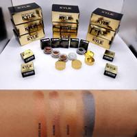Wholesale Gold Eyeshadow Brown Eyes - 4 Colors Kylie Jenner Cosmetics Birthday Limited Edition Creme Eye shadow Rose Gold Copper  Brown Black Metallic Long-wear Creamy Eyeshadow