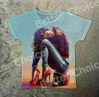 Wholesale moto girl - Track Ship+New Fresh Hot Vintage Retro T-shirt Top Tee Cool Moto Girl Sit on Helmet 1433