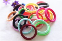 Wholesale Hair Bows Extensions - In stock Adult hair ring high elastic color seamless seamless towel ring hair tie rope free shipping