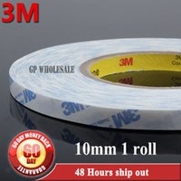 Wholesale 3m Tissue - Wholesale- 2016 10mm* 50M 3M 9448A White Tissue Adhesive Tape for Cloth, Cellphone GPS Panel Windows Screen Glass Repair Assemble, Strong