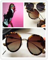 тонкие стекла оптовых-Новые моды Chrome солнцезащитные очки бренд-дизайнер круглые пластины ретро двойной луч очки штраф серебряные аксессуары анти-УФ-объектив с оригинальной коробкой