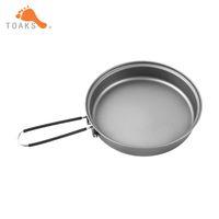 Wholesale handle diameter for sale - Group buy Toaks Titanium Frying Pan Cookware Set With Folding Handle Diameter mm Eco Friendly Ultraight Titanium Pan Pan