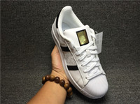Wholesale 36 D - Running shoes walking Superstar White gold black Casual Shoes hot sale Superstars Sneakers wholesale Women Men Sport trainers size 36-44