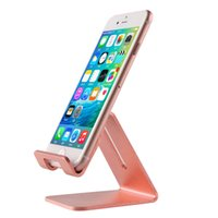 Wholesale Gold Watch Phone - Universal Aluminum Metal Phone Stand Holder For iphone SE 6 6S 7s Plus Samsung S6 S7 Edge S8 Tablet Desk Holder Stand For Smart Watch