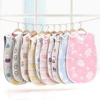 Wholesale Sleeveless Baby Sleeping Bags - Baby Sleeping Bag Boy Girl Envelopes Cotton Printed Belt Clothes Sleeveless Romper Newborn Sleepsacks sleep sack fit 0-4T