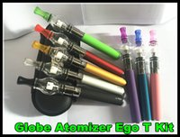 Wholesale Vaporizer Smoking Device Ego - New Glass Globe Atomizer EGo T battery kit Portable Vaporizer Portable Wax Vape Pen ego e cigarette waxing device smoking starter kit