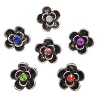 Wholesale Cheap Metal Buttons - B070 50pcs Wholesale Cheap Noosa Flower Metal Chunks 12MM Mini Ginger Snap Button Jewelry for Noosa DIY Bracelets