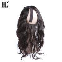 ingrosso cinghia di capelli bambino-HC Hair Products Capelli vergini peruviani di alta qualità Body Wave Pre Pizzicati 360 Frontal del merletto con le cinghie regolabili Capelli del bambino all'orecchio 360