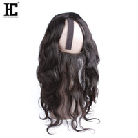 Wholesale hair strap baby for sale - Group buy HC Hair Products Top Quality Peruvian Virgin Hair Body Wave Pre Plucked Lace Frontal with Adjustable Straps Baby Hair Ear To Ear