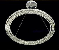 Wholesale Diamond Ring Ceiling Lights - 40cm Modern LED Round Crystal Pendant Lamp Diamond Ring Ceiling Light Lighting