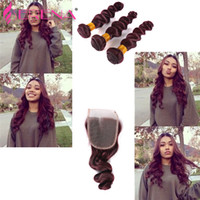Grade 7A Wine Red Brésilien Remy Hair Hair Extensions 4Pcs quatre pièces Bourgogne Virgin Hair Bundles 99j Hair Loose Wave Wave Of Body Wave