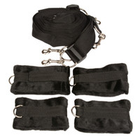Wholesale beds for adults resale online - Under the Bed Mattress Restraint System with handcuffs wrist cuffs BDSM Bondage Gear Adult Sex Toys Products for Couples Sexual Play XLF1145