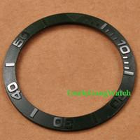 зеленая рамка автоматическая оптовых-Оптово-Запчасти для часов, Corgeut 38mm Темно-зеленая рамка, подходящая для 40-миллиметровых автоматических часов SUB, вставка для часов для DIY BZSUB38GR