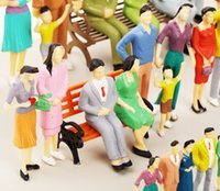 Wholesale Model Figure Scales - 20 Pcs 1:25 Scale Model Figures for outdoor model railroad and interior model making