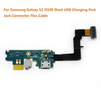 Wholesale Dock Connector Charging S2 - 5pcs lot For Samsung Galaxy S2 i9100 Dock USB Charging Port Jack Connector Flex Cable Free Shipping