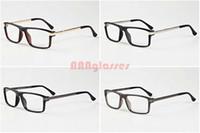 Wholesale Optical Glasses Womens - 2017 Fashion Sunglasses For Mens Womens Optical Metal Gold Silver Frames Buffalo Horn Glasses Brand Designer Vintage Eye glasses Clear Lens