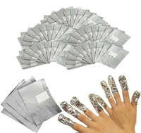 Wholesale Nail Polish Remover Cotton - 4000 Pieces Gel Polish Removal Wraps Tinfoil Manicure Foil Stickers Aluminum Foil Silver Paper with Cotton Nail Wrapped Paper