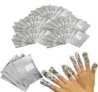 Wholesale Nail Polish Remover Paper - 4000 Pieces Gel Polish Removal Wraps Tinfoil Manicure Foil Stickers Aluminum Foil Silver Paper with Cotton Nail Wrapped Paper