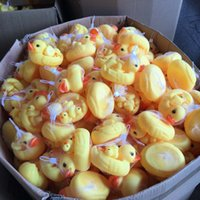 Wholesale 4PCS SET Light Yellow Duck Baby Children Paddle Swimming Bath Duck Toy Gift Factory Hot