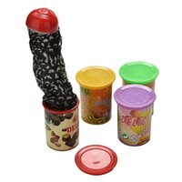 Wholesale magic jumps - Funny Trick Frighten For Magic Candy Jar Jump Out Toys With Voice Strange Jar Gags Practical Jokes 5-7 Years Old