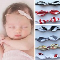 Wholesale Cute Headbands For Sale - Hot Sale Rabbit Bunny Ear Headband Solid Lovely Headbands For Baby Girls Cute Leather Head Band Hair Accessories