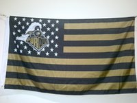 Wholesale Flag Stars - Purdue Boilermakers Flag 90 x 150 cm Polyester NCAA Stars And Stripes Outdoor Banner