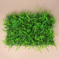 Wholesale Home Party Marketing - 10 PCS   Lot Artificial Plants Wall Plastic Grass Wedding Background Lawn Pillar Flower Road Lead Home Market Decoration