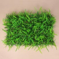 10 PCS / Lot Plantas artificiais Wall Plastic Grass Fundo do casamento Lawn / Pillar Flower Road Lead Home Market Decoration