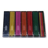 Wholesale Mechanical Pencil Lead Refills - Wholesale- 2pcs(tubes) lot super strong 2.0mm mechanical pencil leads hi-polymer pencil refill premium anti-cracking color lead for drawing