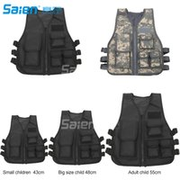 Wholesale Acu Holster - Tactical Vest with Holster and Pouches - In Camouflage, ACU, Black, Desert, and Teen Sizes