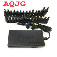 Wholesale Netbook Cabling - Wholesale- 110-220v AC To DC 12V 15V 16V 18V 19V Charger Adapter 96W Universal Laptop PC Netbook Power Supply Charger With 30pin AQJG