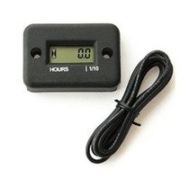 Wholesale Inductive LCD motocross Hour Meter for Marine ATV Motorcycle Dirt Ski Waterproof green black with years lifetime