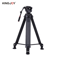 Wholesale tripod for video - Kingjoy VT-3500 197cm 6.5ft Camera Camcorder Tripod with VT-3530 Fluid Damping Head for Sony A7 A7II A7RII ILDC Video Studio