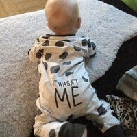 Wholesale Unique funny baby onesie clothes cotton dot climbing suit for baby boys and baby girls T free ship