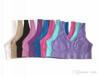 nahtloser mikrofaser-pullover großhandel-Sport-Büstenhalter-Yoga-Büstenhalter sortiert nahtlose Farben des Damen-Unterwäsche-Microfiber-Pullover-Büstenhalters 6 freies Verschiffen DHL 300pcs