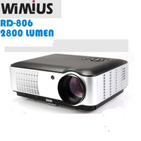 "Wholesale Led Projecteur Lcd - Wholesale-Wimius 5.8""TFT LCD RD-806A Full HD 1080P Video TV LED Projecteur ATV   DVB-T Home Proyectores HDMI USB VGA AV Beamer 2800 Lumens"