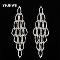 Wholesale Austrian Crystal Earrings Flower - YFJEWE Famous Brand Austrian Crystal Earring Silver Plated drop Earrings Jewelry For Women Bijoux Fashion Earrings Jewelry #E428
