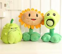 ingrosso bambole giocattolo zombie-Nuovo arrivo! piante vs zombi peluche 30cm peluche nuovi zombi personaggi Zucca Bambola Piante giocattolo fiore set regali per bambini