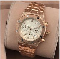 aaa top brand оптовых-Все Subdials работа AAA мужские часы из нержавеющей стали Кварцевые наручные часы секундомер роскошные часы Топ Марка relogies для мужчин relojes лучший подарок