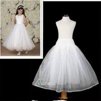 Wholesale Petticoats For Children - Free Shipping High Quality No Hoop A line Children Petticoat Crinoline Underskirt Petticoat For Flower Girl Dress Wedding Accessories 2017