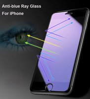 Ultra Delgado Anti-Azul Ray Tempered Glass Para iPhone X 8 8plus 7 Plus HD Anti-Azul Protector de pantalla de luz 9H Película endurecida